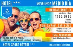 Experiencia Hotel Nayade medio dia + menu